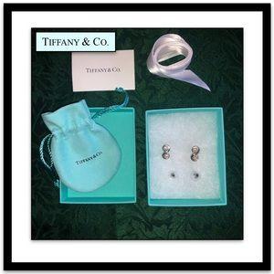 Lovely Tiffany Double Pearl Earrings in 925 silver